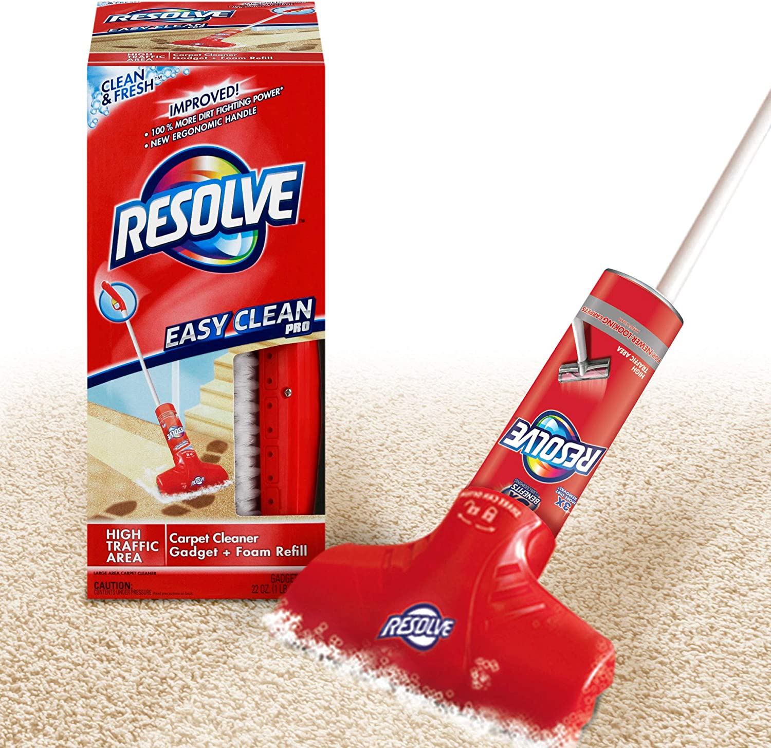Amazon Com Resolve Easy Clean Pro Carpet Cleaner Gadget Foam Spray Refill Clean Fresh 22 Oz Can Carpet Shampooer System Health Personal Care