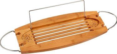 AmazonBasics Deluxe Bamboo Bathtub Caddy