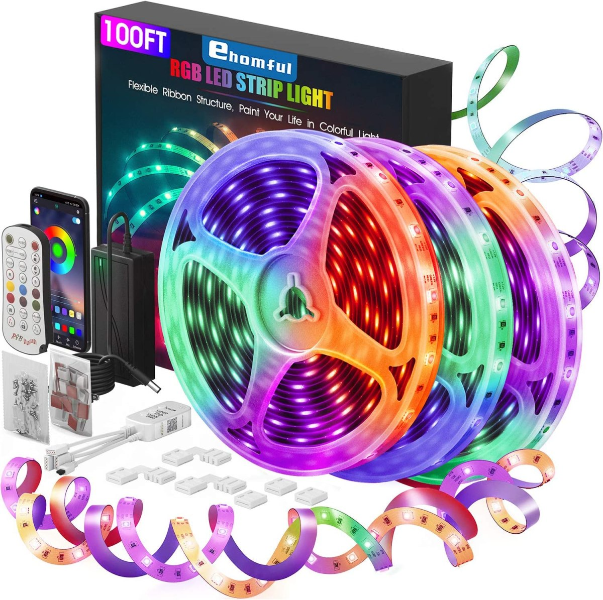 Ehomful LED Strip Lights 100 Feet