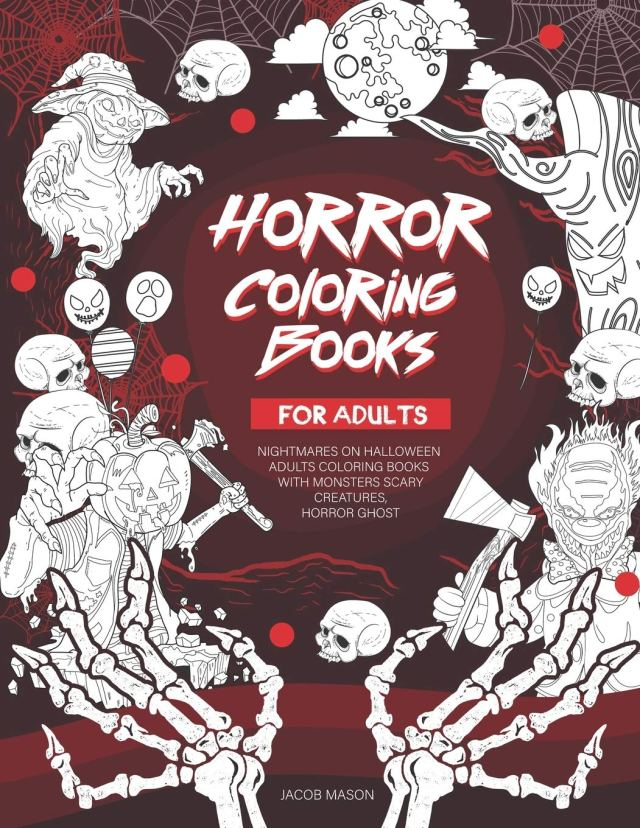 Amazon.com: Horror Coloring Books For Adults: Nightmares On