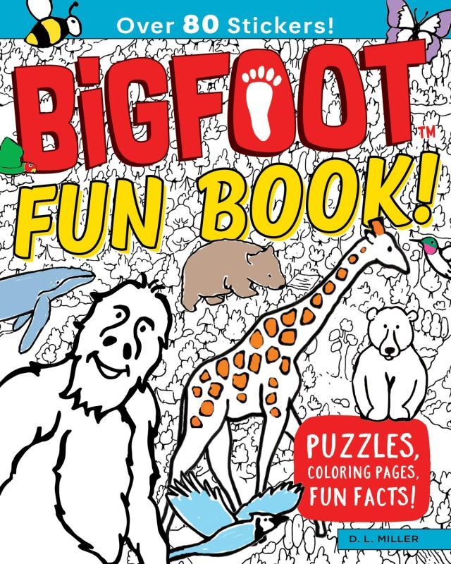 BigFoot Fun Book!: Puzzles, Coloring Pages, Fun Facts! (Happy Fox