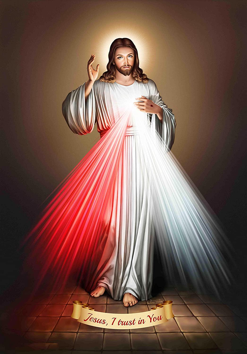 Kumkum Arts Jesus Hd Unframed Poster Photographic Gloss Paper 12 X 18 Inch Multicolour Amazon In Home Kitchen