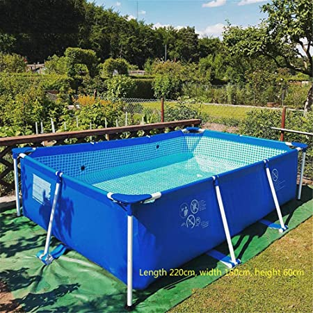 Amazon Com Swimming Pool 87 X59 X24 Frame Above Ground Pool Full Sized Lounge Pool For Kiddie Kids Adults Easy Set For Backyard Summer Water Party Outdoor Garden Outdoor