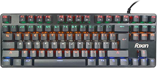 Foxin FMK-1002 RGB Backlit Semi-Mechanical Gaming Keyboard (Black)