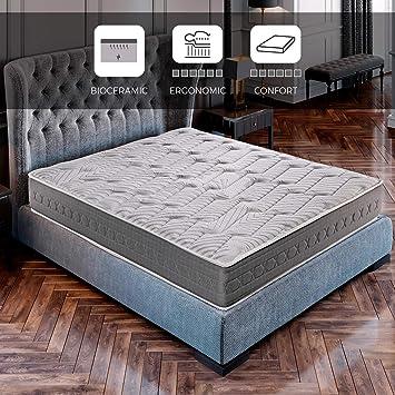 ROYAL SLEEP Colchón viscoelástico Carbono 150x190 firmeza Alta, Gama Alta, Efecto regenerador, ...