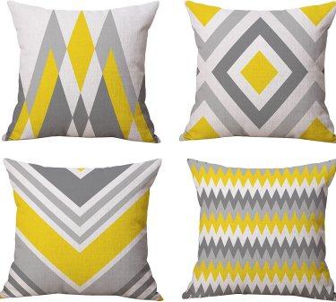 BLUETTEK Square Throw Pillow Covers