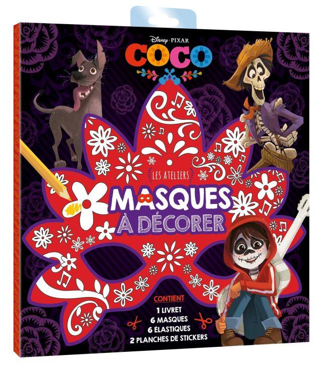COCO - Pochette Les Ateliers - Masque à décorer - Disney Pixar