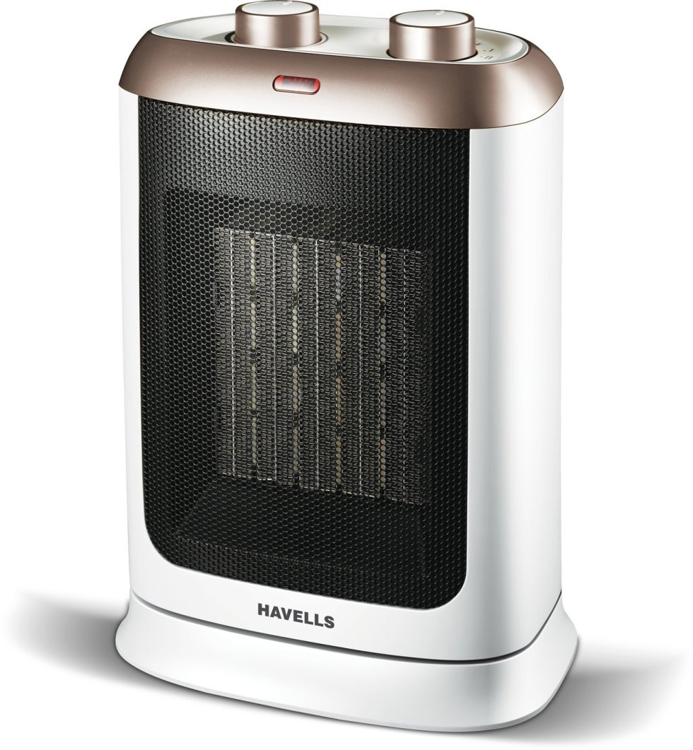Havells Calido PTC Fan Heater 2000 W – White and Gold