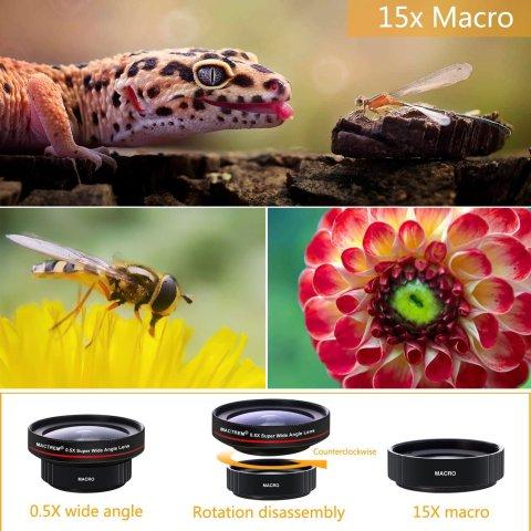 スマホ カメラレンズ クリップ式 スマホレンズ マクロレンズ 0.5倍 超広角レンズ スマートフォン タブレット 対応 自撮りレンズ