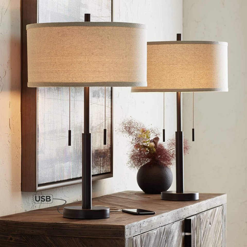 Bedside Table Lamps With USB Connections - AirBnb Must Haves