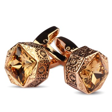 ..Panjatan Glamorous Golden Stone Cufflinks for Men . curiouskeeda