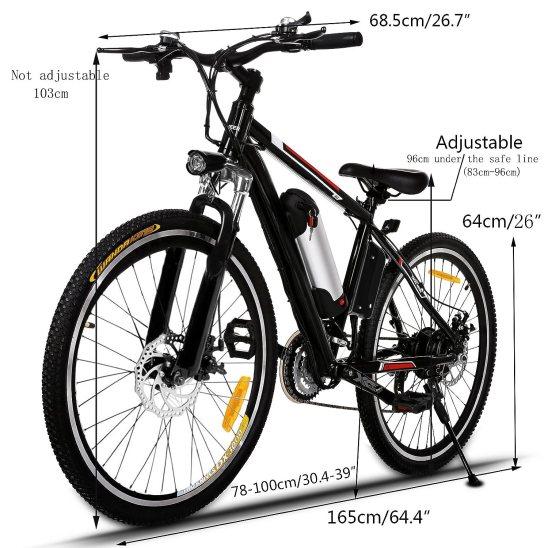 Aceshin 26'' Electric Mountain Bike review