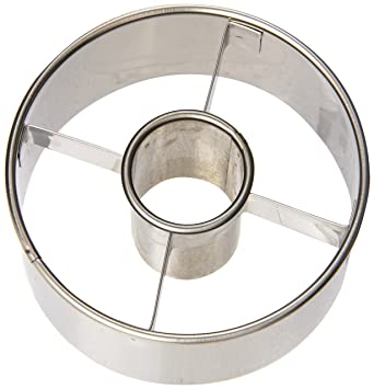 "Ateco 14423 3 1/2"" Stainless Steel Doughnut Cutter"