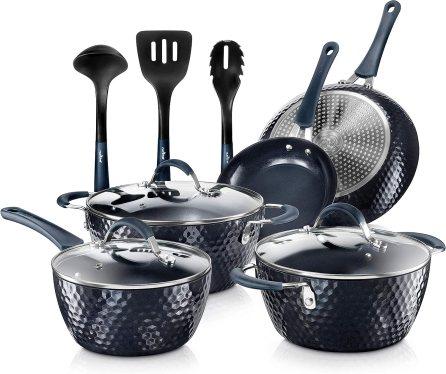 Nutrichef Nonstick Cookware Excilon Home Kitchen Ware Pots & Pan Set