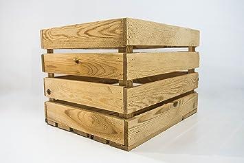 Caja de Madera de Almacenamiento Sam, Caja Vintage de Madera