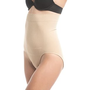 UpSpring C-Panty High Waist C-Section Support, Recovery & Slimming Panty with C-Section Scar Healing - S/M Nude