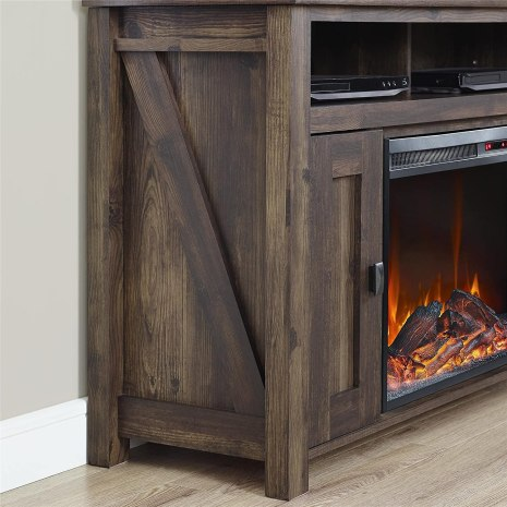 ameriwood home fireplace tv stand review