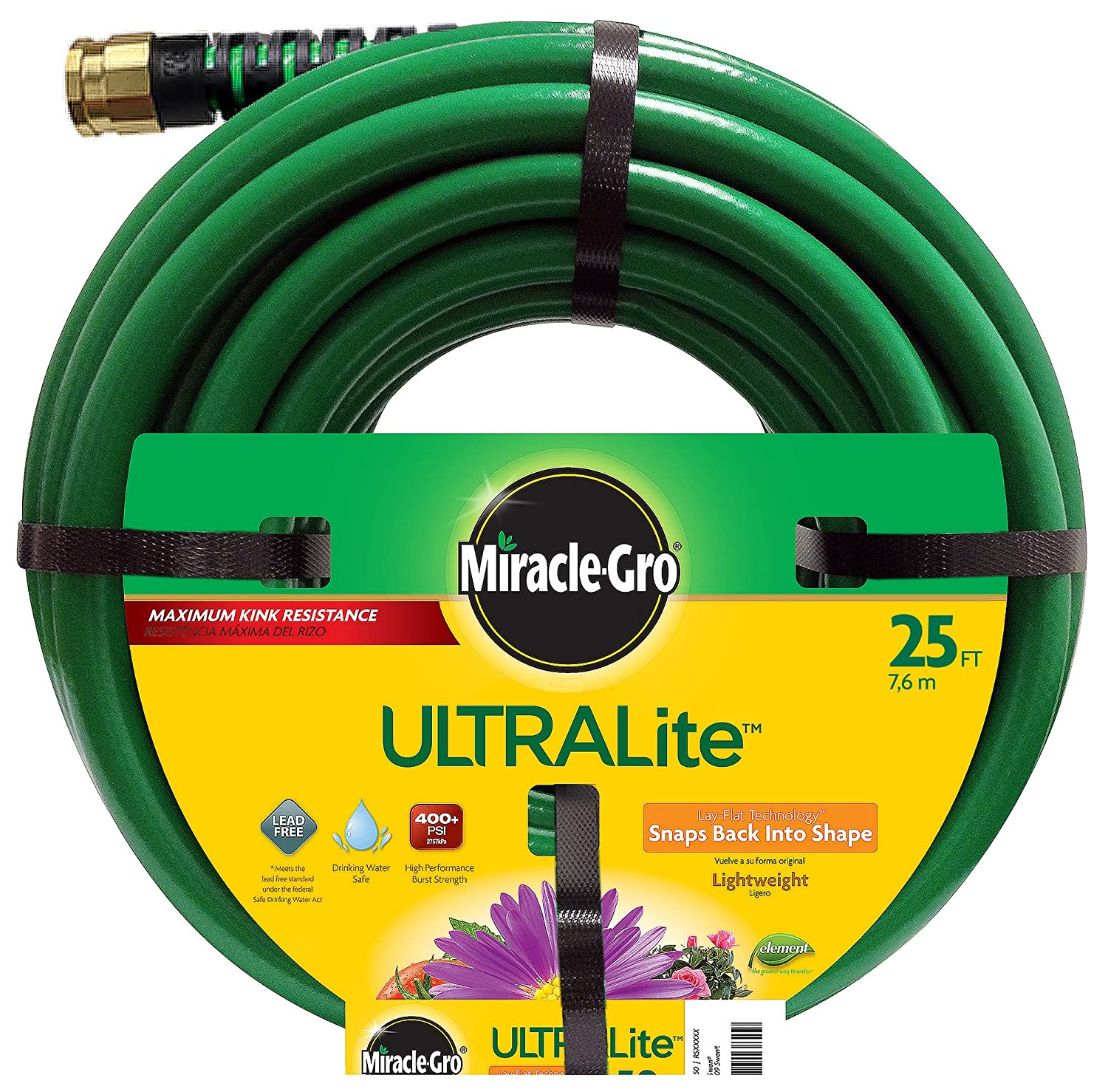 Miracle Gro Ultra Lite Hose, 25-Feet