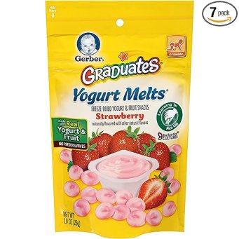Gerber Graduates Yogurt Melts, Strawberry, 1 Ounce (Pack of 7)