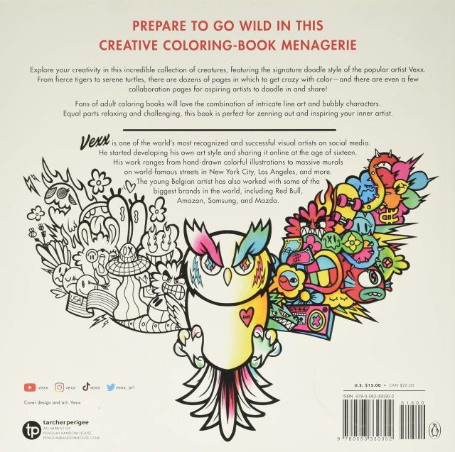 Amazon.com: Creatopia: A Coloring Book: 19: Vexx: Books