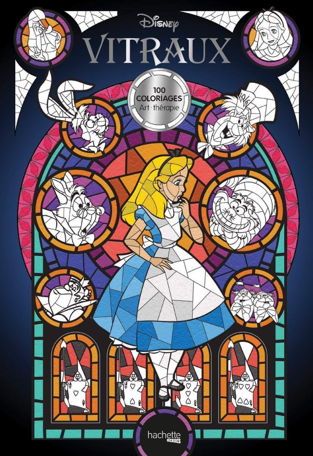 Disney Vitraux: 29 coloriages : Disney, Guérin, Jean-Luc: Amazon