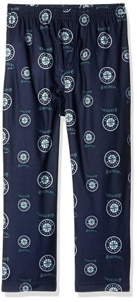 OuterStuff MLB Boys 4-7 Mariners Sleepwear All Over Print Pant, M(5-6), Athletic Navy