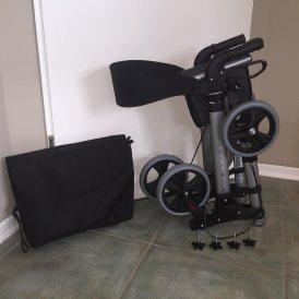 Trendmobil Rollator LR-X Leichtgewicht, doppelt faltbar, Komplett-Set mit Gurt & Stockhalter