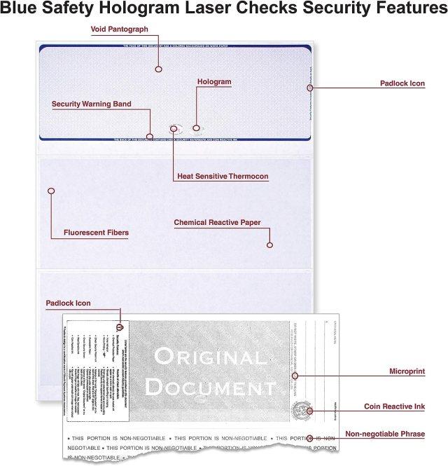 Blank Hologram Top Computer Checks Qty Blank Top Hologram Laser