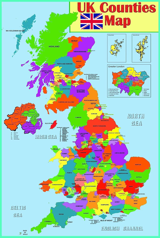 map, uk
