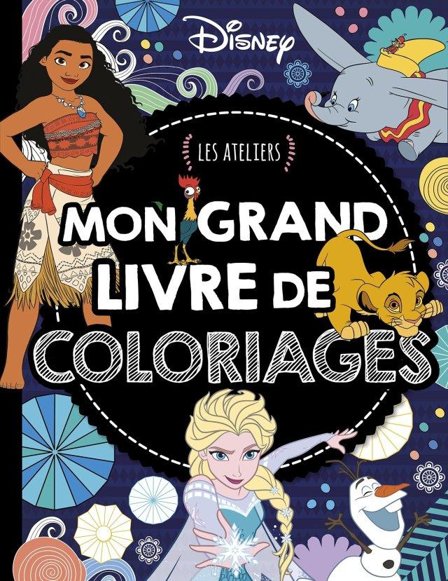 DISNEY - Les Ateliers - Mon grand livre de coloriages: Amazon.co