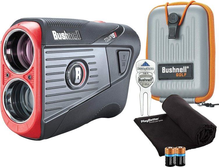 Bushnell Tour V5 Shift (Slope) Golf Laser Rangefinder Patriot Pack Bundle