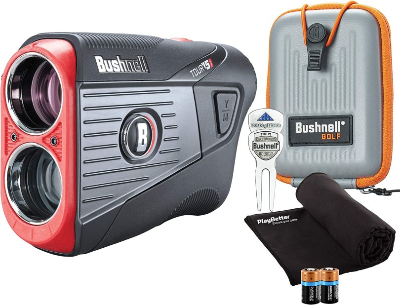 Bushnell Tour V5 Shift (Slope) Golf Laser Rangefinder Patriot Pack Bundle