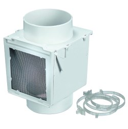 "Deflecto Extra Heat Dryer Saver, 4"", White"