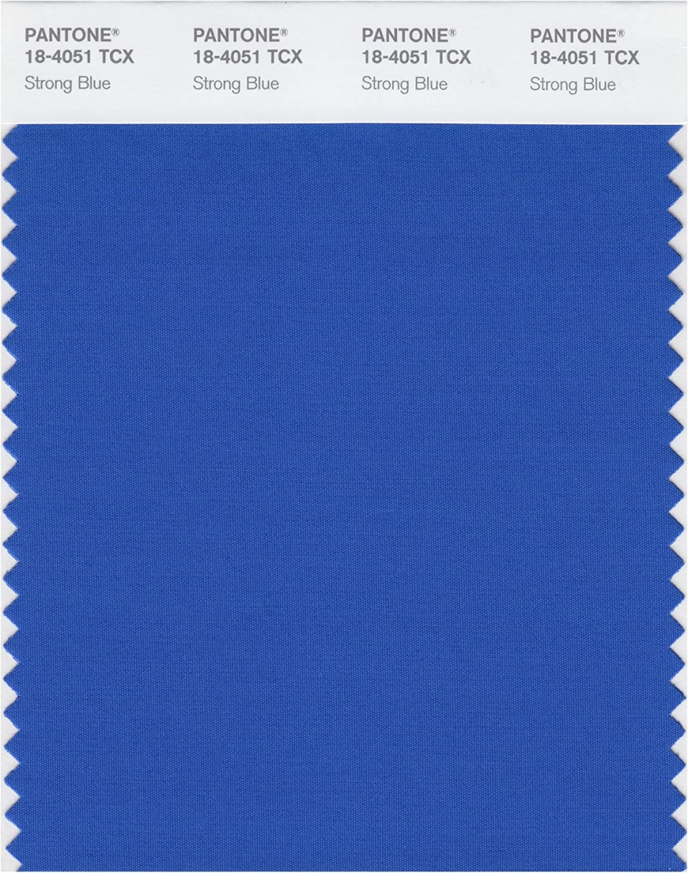 PANTONE Smart 18-4051X Color Swatch Card, Strong Blue - Wall Decor ...