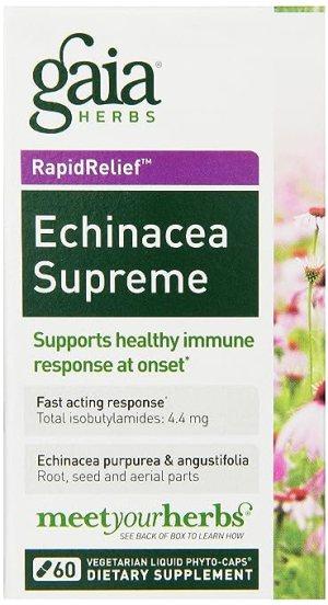 Echinacea Supreme Organic Gaia Herbs 60 Liquid Phyto-Capsules