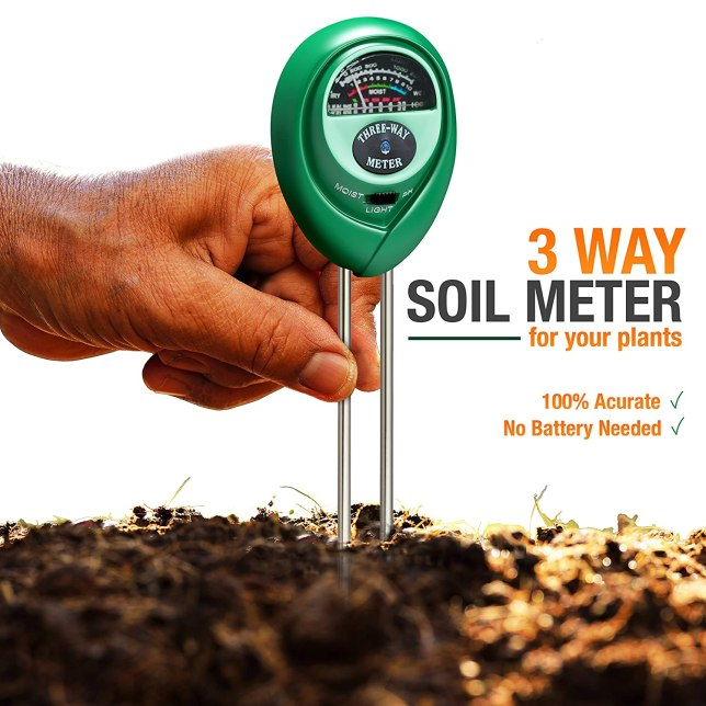 Healthy Wiser Soil pH Meter 3-in-1 Test Kit