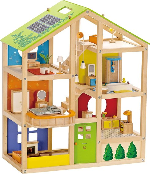HAPE Wooden Dollhouse All Seasons Kids Wooden Dollhouse by HAPE Montessori cultural materials toys
