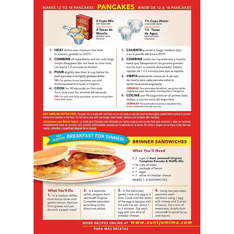 Aunt Jemima Pancake Recipe For Two Chekwiki