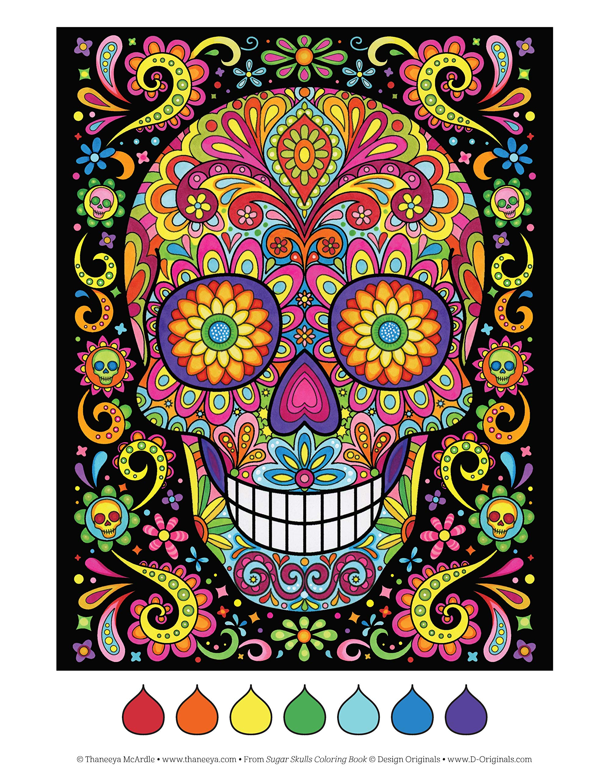 Sugar Skulls Coloring Book Fun Funky Day Of The Dead Designs Mcardle Thaneeya 9781497202047 Books Amazon Ca