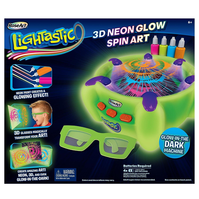 RoseArt Lightastic 3D Neon Glow Spin Art