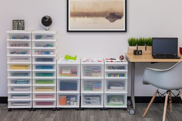 Plastic craft storage containers