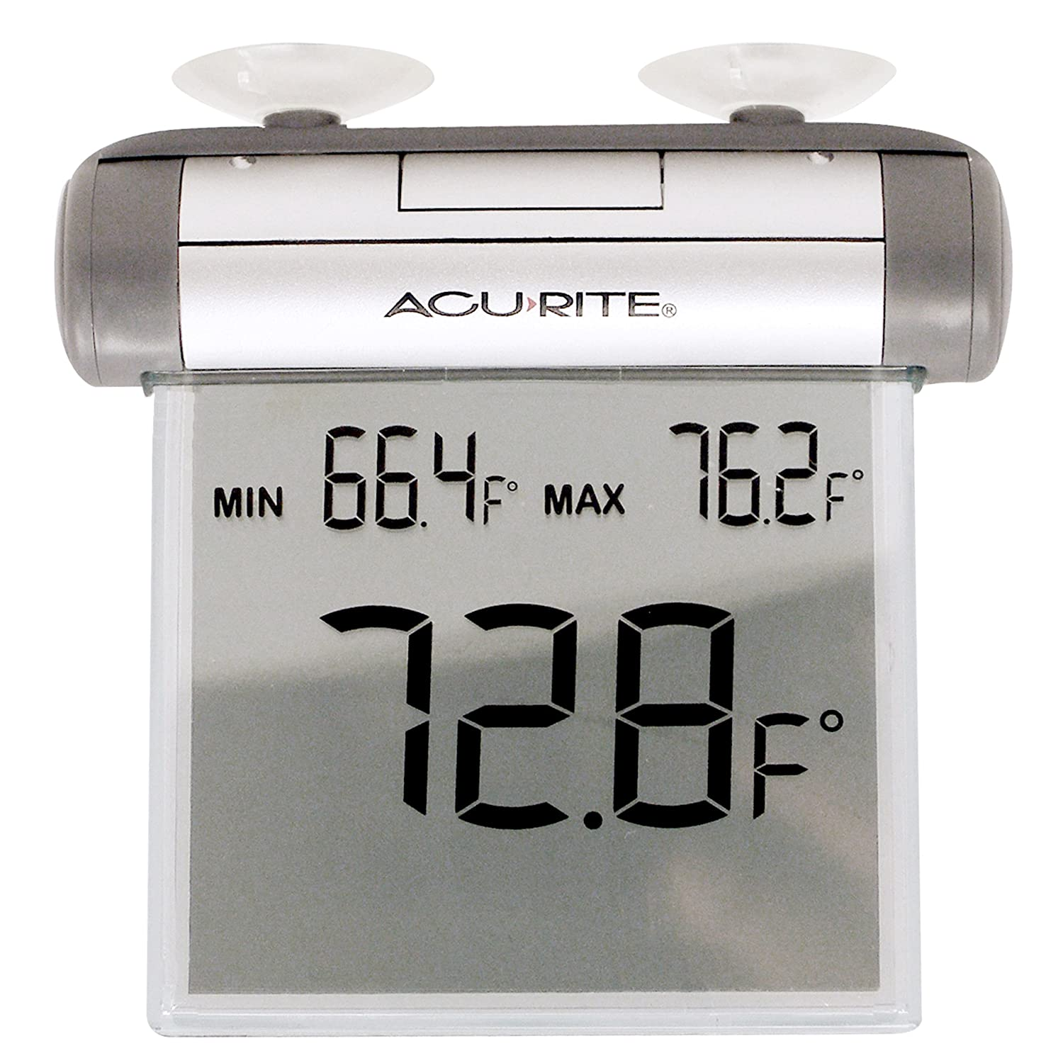 Amazon.com: AcuRite Digital Window Thermometer A simple solution for tracking the outside temp on our boat – we just suction cup this to a window on the cockpit.