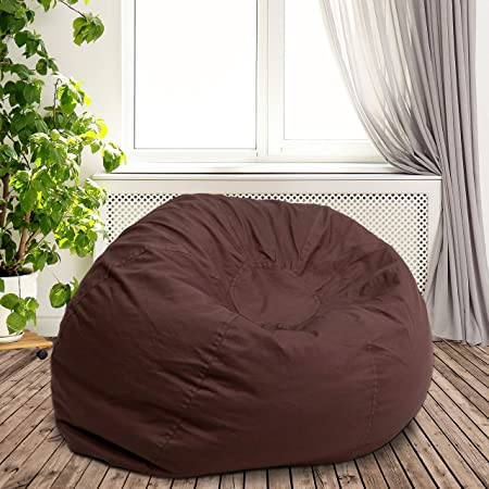 Flash-Furniture-Oversized-Solid-Brown-Bean-Bag-Chair-Reviews