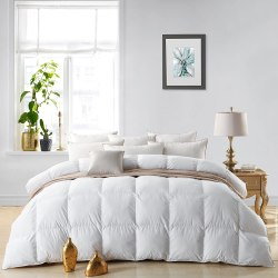 EGYPTIAN BEDDING LUXURIOUS 800 THREAD COUNT HUNGARIAN GOOSE DOWN COMFORTER – KING SIZE