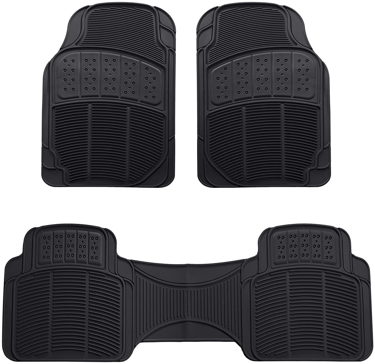 Best Floor Mats Reviews AmazonBasics 3 Piece Car Floor Mat, Black