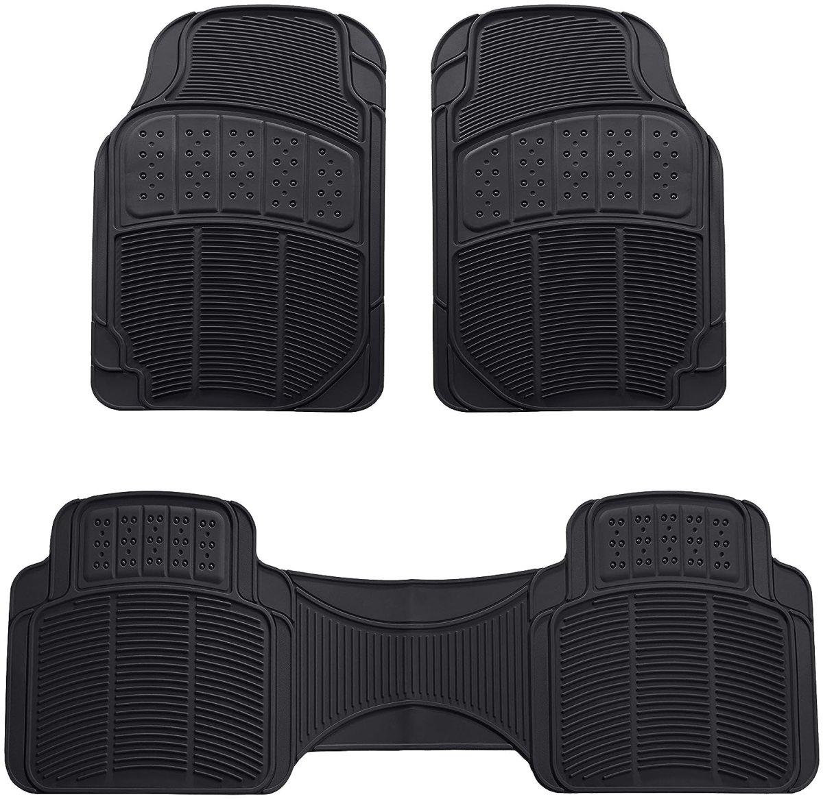 Best Floor Mats Reviews AmazonBasics 3 Piece Car Floor Mat, Black