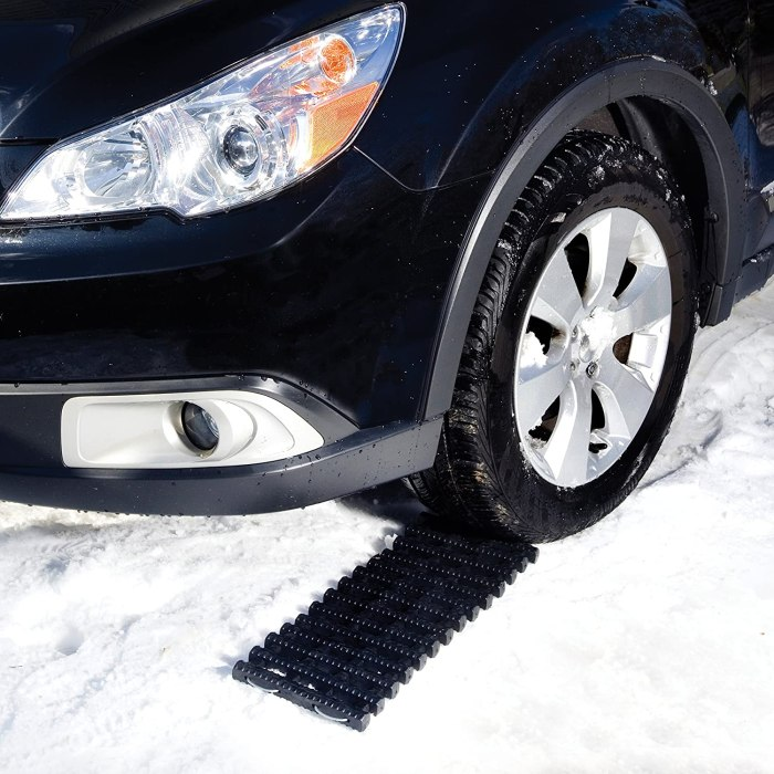 Don't call roadside assistance, Go with Joe's TrackAssist ATJ651. This simple system guides your vehicle to safety, providing a non-slip track in ice, snow, mud and sand. The ATJ651 is crafted from heavy duty thermoplastic rubber to handle cars and trucks. Wedge the TrackAssist between your car's tire and the slippery surface, then drive ahead to regain traction. Comes with a full two year warranty from Snow Joe.