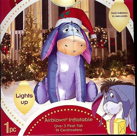 Disney Eeyore In Santa Hat Christmas Airn Inflatable Eyeore By Gemmy Winnie The Pooh Friend