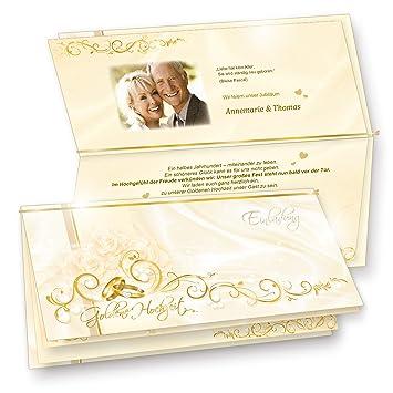 Einladungskarten Goldene Hochzeit 20 Sets Hinreissend Fein Abgestimmte Einladungskarten Set Mit 20 Karten 20 Umschläge 20 Einlegeblätter Zum