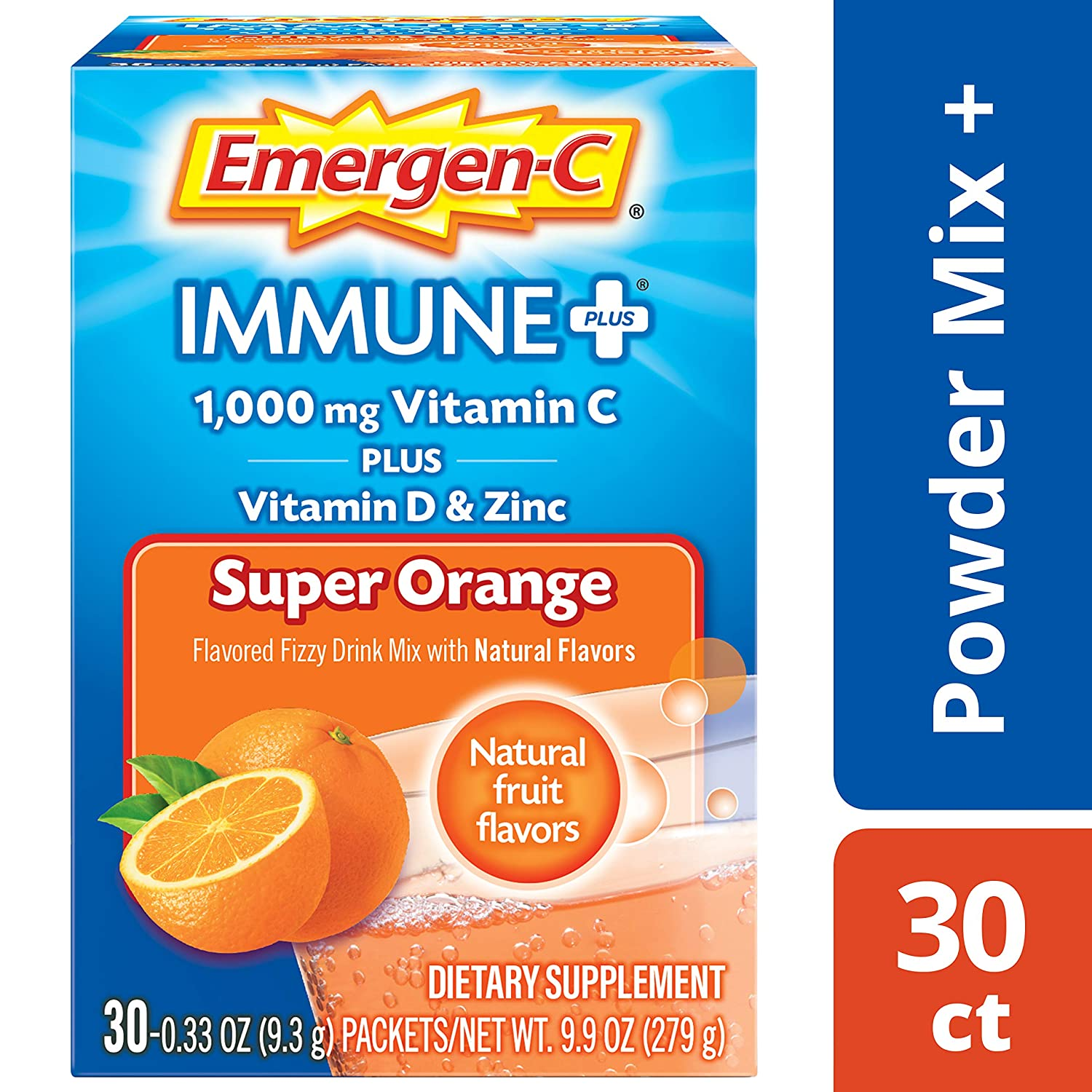 Emergen-C Immune+ Vitamin C 1000mg Powder, Plus Vitamin D And Zinc